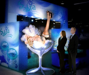 Shaken or Stirred? Giant Martini Glass Girls