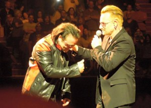 Joe Hier and Bono